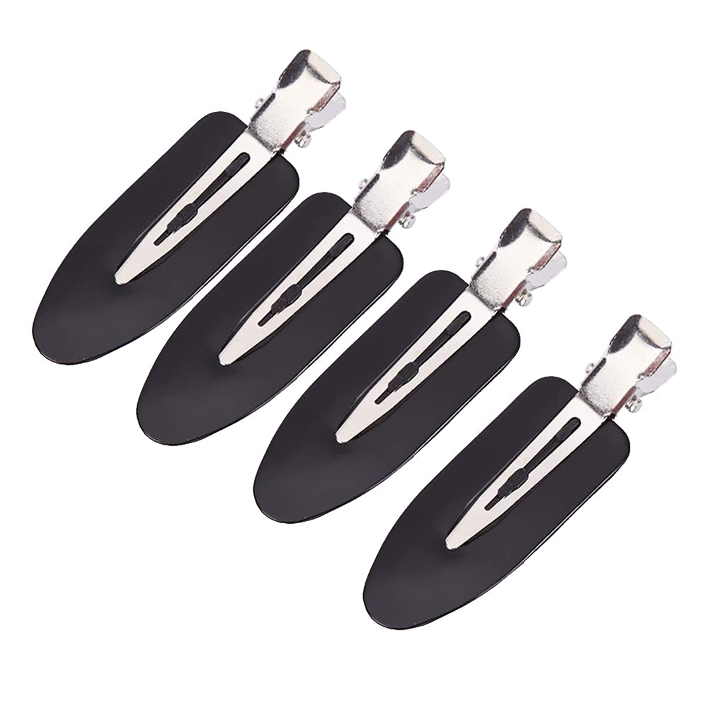 CUTICATE Pack of 4 Seamless Hair Clips, Leaf Shape Traceless Makeup Hair Clips Positioning Clamps for Hairstyle Bangs