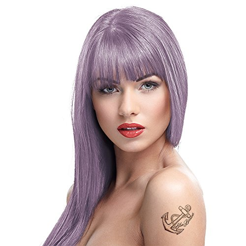 4 X Crazy Color Renbow Semi-Permanent Hair Colour Cream Dye 100ml Box of Four-Ice Mauve …