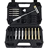 ARTIPOLY Gunsmith tools, 21-Pieces Gunsmithing Punch Set and 4 Hammer with Brass, Hollow, Steel, Plastic Punches