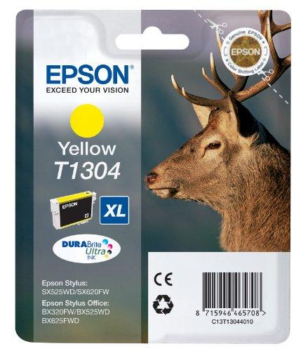 Epson Original T1304 Tinte Hirsch (SX420W BX320FW SX620FW BX/SX525WD BX625FWD BX305FW B42WD BX925FWD BX635FWD BX535WD SX435/440W BX630FW SX235W WF7015 7515 7525 3010 3520 3540) gelb