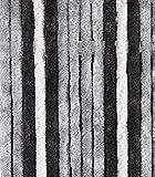 Arisol FRA501046 Chenille - Cortina, Color Gris, Gris y Negro