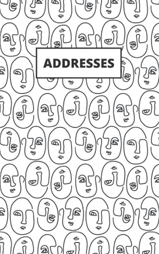 """Addresses: Faces; address book, phone book; 26 pages; 5"""" x 8"""""""