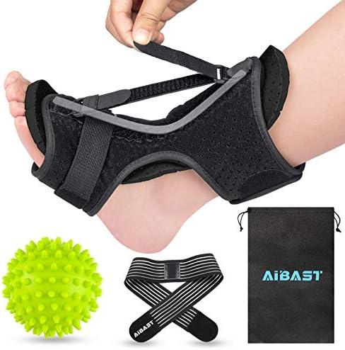 AiBast Plantar Fasciitis Night Splint 2020 New Upgraded Black Multi Adjustable Ankle Brace Foot product image