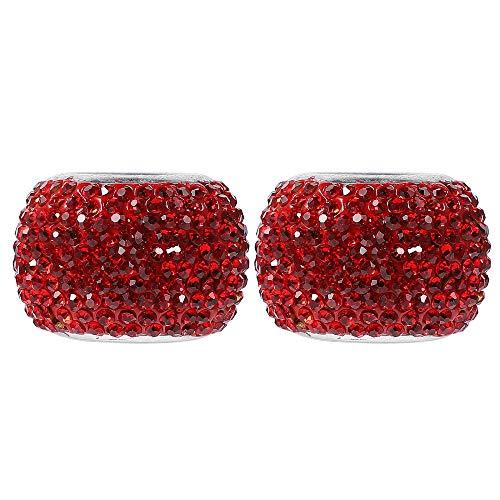 DENGZ Collares de reposacabezas de Asiento de automóvil, Collar de reposacabezas de automóvil Universal, Decoración Bling Bling Crystal Diamond Ice, para automóvil SUV Vehículo, Rojo,