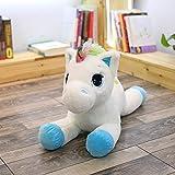 CGDZ 40-60cm Unicorn Farcito Peluche Unicorn Animal Horse Alta qualità Cartoon Regalo per Bambini Blu-Bianco 60cm