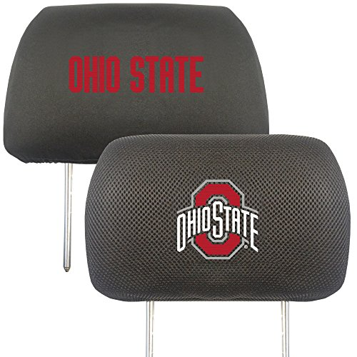 """FANMATS 12589 NCAA Ohio State University Buckeyes Polyester Head Rest Cover , 10""""x13"""",Team Colors"""