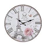 Reloj de cocina de madera con un gran reloj de MDF, reloj re
