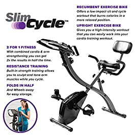 BulbHead As Seen On TV Slim Cycle 2-in-1 Stationary Bike &#8...