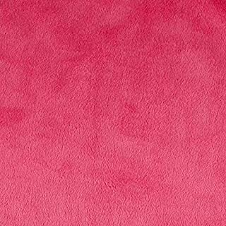 Shannon Fabrics Minky Solid Cuddle 3 Extra Wide Fabric by The Yard, Fuchsia