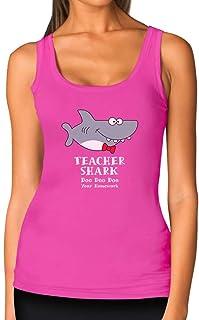 Teacher Shark Doo Doo Funny Gift for Teachers Women Tank Top