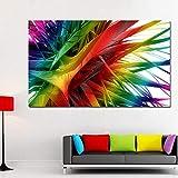 3D abstrakte bunte Pflanzenwandplakat-Leinwandmalerei-Wohnzimmerdekorationsmalerei