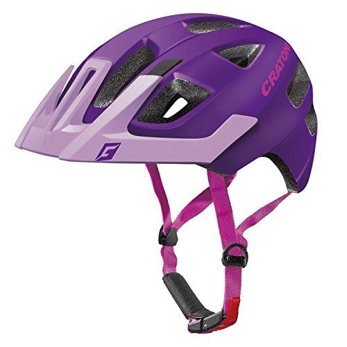 Cratoni Kinder Maxster Pro Fahrradhelm, Purple/Pink Matt, S-M