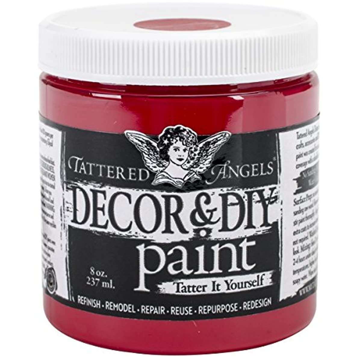 TATTERED ANGELS Decor & DIY Paint Cup, 8 oz, Scarlet