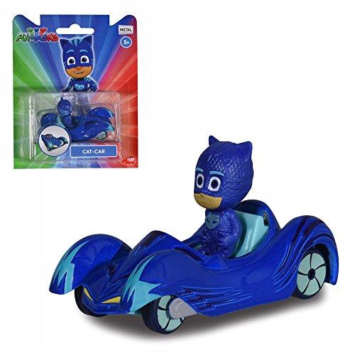 PJ Masks Selezione Veicoli con Figura | Die Cast Dickie Toys, Action Figure:Catboy
