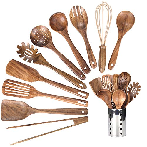 Kitchen Wooden Utensils: 11 Pieces