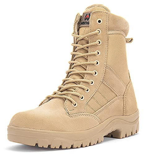 WIDEWAY Men's 8 Inches Military Tactical Work Boots Army...