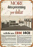 Metall-Blechschild 20,3 x 30,5 cm 1961 IBM 1401
