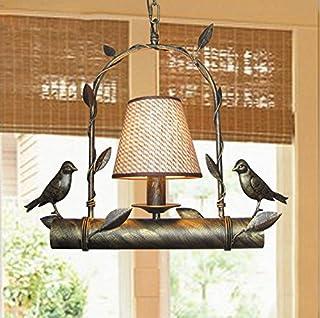 Iron Bird Chandelier Restaurant Balcony Aisle Bar Art Lights (Design : A)