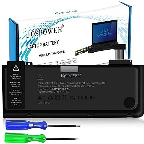 """JQSPOWER A1322 - Batería de repuesto para Pro 13"""" A1322 A1278 (A1278 Mid-2009 Mid-2010 Early-2011 Late-2011 Mid-2012) mc375d/A y MB991LL/A 2009 (ion de litio, 10.95 V, 63.5 Wh)"""