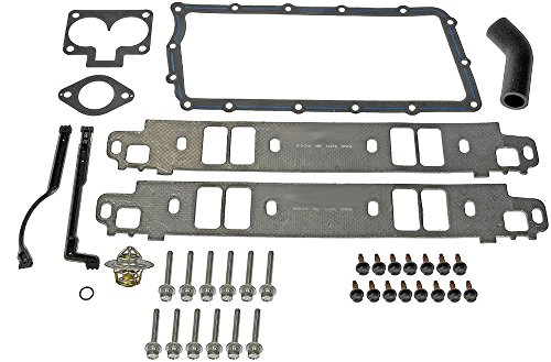 APDTY 726421 Intake Manifold Upper & Lower Gasket Kit For Dodge & Jeep 5.2L & 5.9L Engines (Includes Bolts & New Thermostat)(4897383AC)