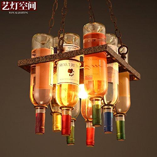 QUIETNESS @ con kronleuchtern personalità creativa Bottiglia di vino arte kronleuchter 300* 330mm Pendel Lampada per bambini camera da letto Esszimmer salotto di 220V-240V Creato