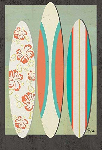 Feeling at home STRETCHED-LONEA-Tablas-Surf-Boards-I-Welsh-Shanni-Costa-Fine-Art-impresión-enmarcado-on-madera-bars-cm_23x16_in