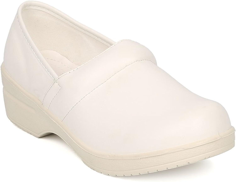 B.DUNN Dakota-01 Women Leatherette Round Toe Slip On Clog HA15