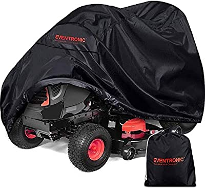 Eventronic Riding Lawn Mower Cover, Riding Lawn Tractor Cover Waterproof Heavy Duty Durable (420D-polyester Oxford)