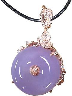 عقد من العقيق الطبيعي مرصّع بالماس بمشبك الأمان قلادة قلادة قلادة مجوهرات للرجال والنساء هدية