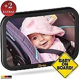 TDP24 Rücksitzspiegel Baby - Spiegel Auto Baby - bewährte Sicherheit durch großes Sichtfeld - Autospiegel Baby + E Book