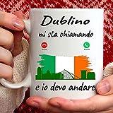 Taza Dublino Mi está llamando y yo debo Andare. Regalo Mug para quien ama Dublín.