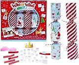 TOYLAND Pack de 6 Quién o qué Soy? Crackers de Navidad - Juegos de Fiesta de Navidad - Galletas de Navidad
