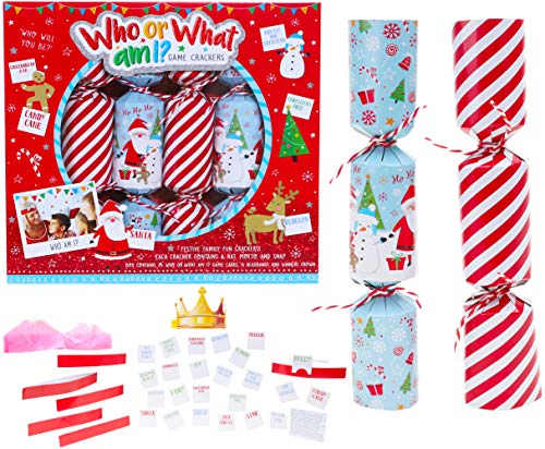 Toyland® Pack of 6 - Wer oder was Bin ich Christmas Crackers - Weihnachtsfeier Spiele - Christmas Crackers