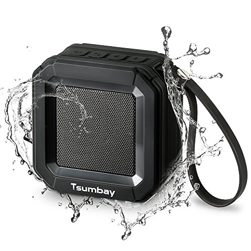 Wireless Bluetooth Speaker, Tsumbay Portable Speaker with Stereo Sound and Enhanced Bass, IP65 Waterproof Dustproof Shower Speaker Compatible for iPhone Samsung Phone, 20-Hour Playtime, Built-in Mic
