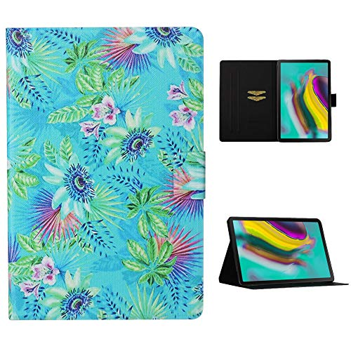 Cestor Flip Tablet Case for Samsung Galaxy Tab S6 10.5 SM-T860/T865,Ultra Slim Premium Colorful Print PU Leather [Multi-Angle View] Folio Stand Wallet Cover with Auto Wake/Sleep,Colorful Flower