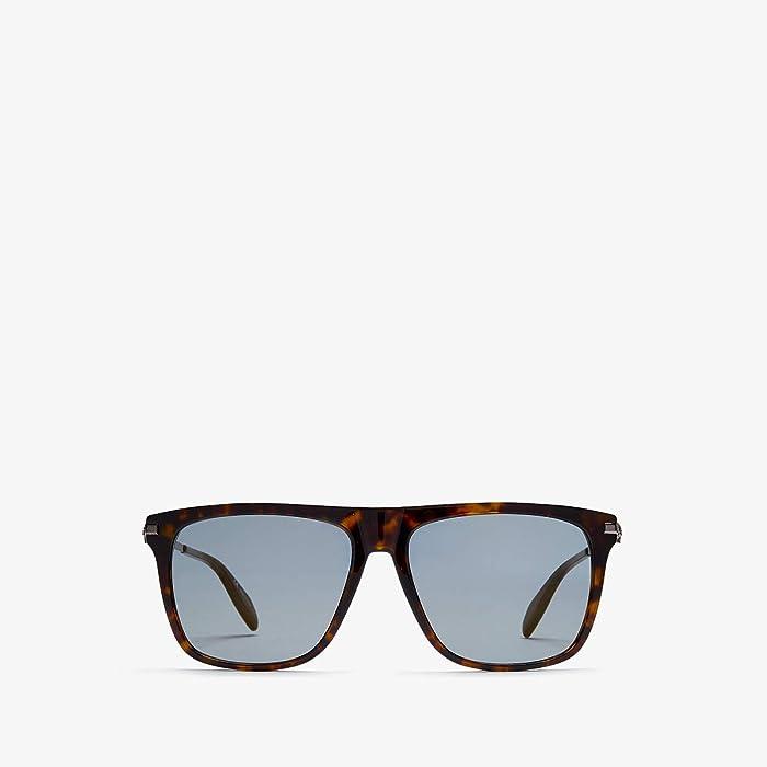 Alexander McQueen  AM0106SM (Havana/Bronze) Fashion Sunglasses
