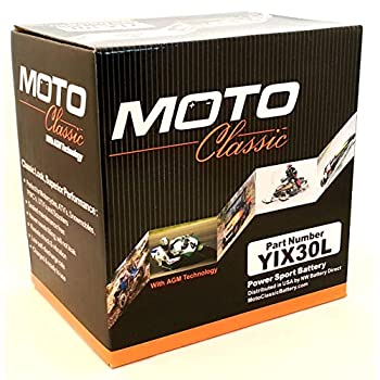 Moto Classic YIX30L 12V 34ah Sealed AGM 420CCA 30 Mo Warranty ATV/Motorcycle Battery