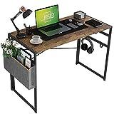 JSB 39.37' Folding Computer Desk with Storage Bag and Hook,...