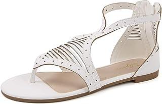 Sponsored Ad - LUFFYMOMO Womens Flat Sandal Summer Thong Sandal