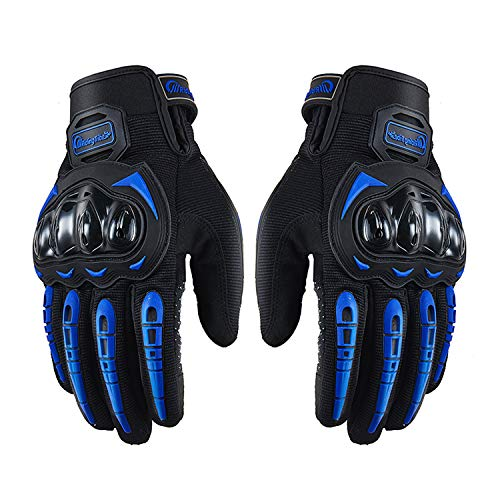 Unisex Full Finger Touchscreen Motorcycle Gloves for Powersports BMX ATV MTB Driving Motocross Mountain Cycling Dirt Bike (XL, Blue)