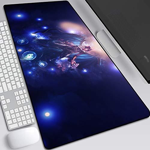 Gaming Mouse Pad / Mat utökad Large Size Mousepad for Computer-Desktop-PC Laptop-tangentbord-pad skrivbordsunderlägg med halkskyddad golv rektangel mus ++++++ (färg: B, storlek: 400 x 900 x 3 mm)