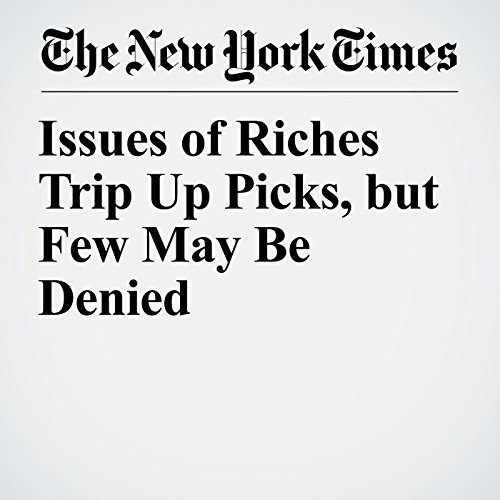 Issues of Riches Trip Up Picks, but Few May Be Denied copertina
