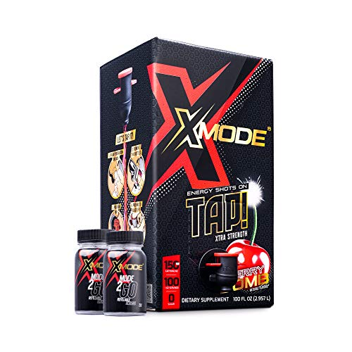 XMODE Extra Strength Energy Shots on Tap (100 Servings, Cherry Bomb)