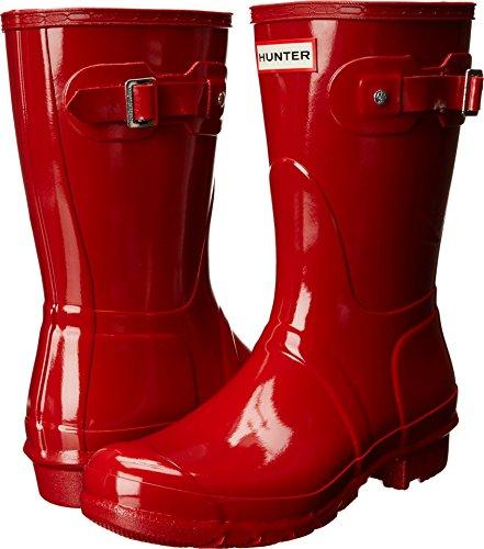 Hunter Women's Original Short Gloss Rain Boots, Military Red, 8 B(M) US