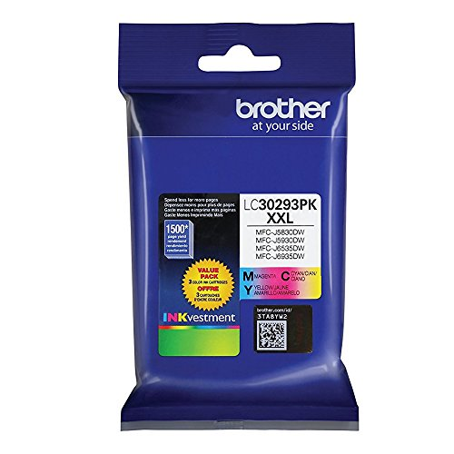 Brother LC30293PK XXL High yield Ink Cartridge Set of Cyan, Magenta Yellow  in Retail Packing