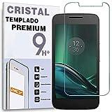 REY Protector de Pantalla para Motorola Moto G4 Play, Cristal Vidrio Templado Premium