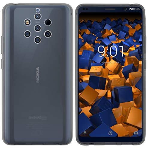 mumbi Hülle kompatibel mit Nokia 9 PureView Handy Case Handyhülle, transparent schwarz