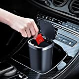 Mini Car Tash Can, Ashcan with Lid Car Dustbin, Car Cup Holder Trash Can, with 45 Additional Car Trash Bags, Suitable for Cars, Kitchens, Offices, Bedrooms