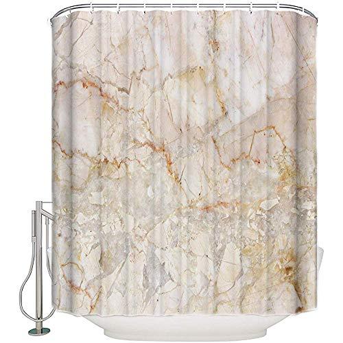 Not applicable Granit Marmor Rock Textur Stoff Duschvorhang Gold Badezimmer Dekor Sets Mit Haken,72X72 In