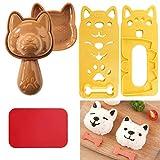 JJQHYC Stampi a forma di palla di riso Bento Nori Modello di cane adorabile Set per Sushi Onigiri Stampi per Principianti